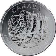 Strieborná investičná minca Bizon lesný Canadian Wildlife 1 Oz 2013