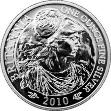Strieborná investičná minca Britannia 1 Oz 2010