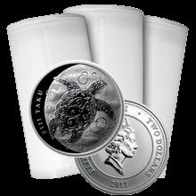 Stříbrná investiční mince Fiji Taku Hawksbill Turtle - Kareta pravá 1 Oz - Investiční Paket 100 Kusů