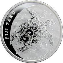 Stříbrná investiční mince Fiji Taku Hawksbill Turtle - Kareta pravá 1 Oz