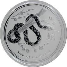 Stříbrná investiční mince Year of the Snake Rok Hada Lunární 1/2 Oz 2013