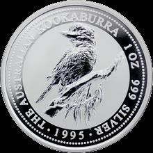 Stříbrná investiční mince Kookaburra Ledňáček 1 Oz 1995