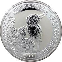Stříbrná investiční mince Kookaburra Ledňáček 1 Kg 1997