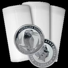 Stříbrná investiční mince Kookaburra Ledňáček 1 Oz - Investiční Paket 100 Kusů