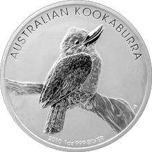 Stříbrná investiční mince Kookaburra Ledňáček 1 Oz 2010