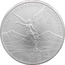 Stříbrná investiční mince Mexiko Libertad 1 Kg