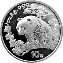 Stříbrná investiční mince Panda 1 Oz 1997