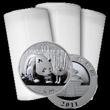 Stříbrná investiční mince Panda 1 Oz - Investiční Paket 100 Kusů