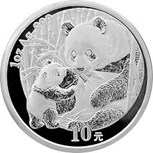 Stříbrná investiční mince Panda 1 Oz 2005