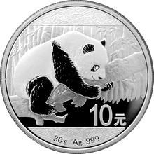 Stříbrná investiční mince Panda 30g 2016