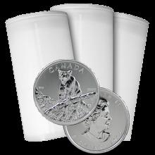 Stříbrná investiční mince Puma Kanada Wildlife 1 Oz 2012 - Investiční Paket 100 Kusů