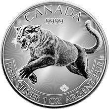 Stříbrná investiční mince Puma Predator 1 Oz 2016