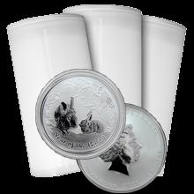 Stříbrná investiční mince Year of the Rabbit Rok Králíka Lunární 1 Oz 2011 - Investiční Paket 100 Kusů