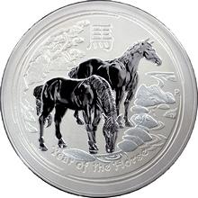 Stříbrná investiční mince Year of the Horse Rok Koně Lunární 10 Kg 2014