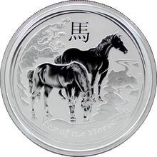 Stříbrná investiční mince Year of the Horse Rok Koně Lunární 1/2 Oz 2014
