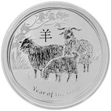 Strieborná investičná minca Year of the Goat Rok Kozy Lunárny 1 Oz 2015