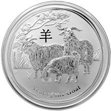 Strieborná investičná minca Year of the Goat Rok Kozy Lunárny 5 Oz 2015