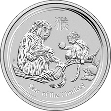 Stříbrná investiční mince Year of the Monkey Rok Opice Lunární 10 Kg 2016