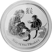 Strieborná investičná minca Year of the Monkey Rok Opice Lunárny 1 Oz 2016