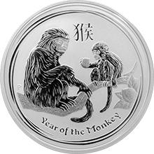 Strieborná investičná minca Year of the Monkey Rok Opice Lunárny 1/2 Oz 2016