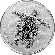 Stříbrná investiční mince Niue Taku Hawksbill Turtle - Kareta pravá 2 Oz