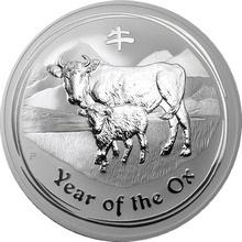 Stříbrná investiční mince Year of the Ox Rok Buvola Lunární 10 Oz 2009
