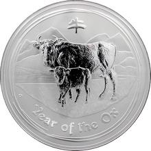Stříbrná investiční mince Year of the Ox Rok Buvola Lunární 10 Kg 2009