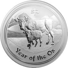 Stříbrná investiční mince Year of the Ox Rok Buvola Lunární 1/2 Kg 2009