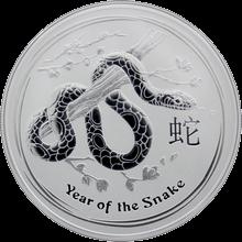 Strieborná investičná minca Year of the Snake Rok Hada Lunárny 1 Oz 2013