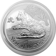 Stříbrná investiční mince Year of the Tiger Rok Tygra Lunární 10 Oz 2010