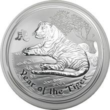 Stříbrná investiční mince Year of the Tiger Rok Tygra Lunární 1/2 Kg 2010