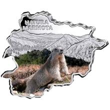Stříbrná mince Svišť Andorra Natura 1 Oz 2013 Proof