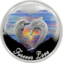 Stříbrná mince kolorovaná Láska Navždy 2013 Proof