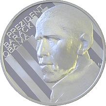 Stříbrná medaile Barack Obama 2009 1oz Proof