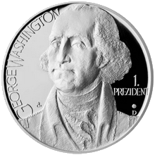 Stříbrná medaile George Washington 2012 Proof