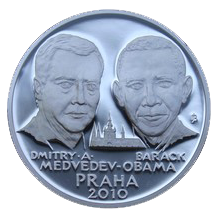 Stříbrná mediale Summit Obama - Medveděv proof