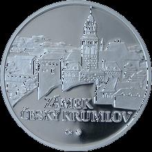 Zámek Český Krumlov stříbrná medaile 2010 1 Oz PROOF
