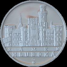 Zámek Hluboká stříbrná medaile 2010 1 Oz PROOF