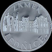 Zámek Lednice stříbrná medaile 2011 1 Oz Proof