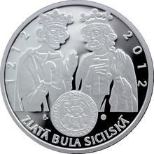 Stříbrná medaile Zlatá bula sicilská 2012 Proof