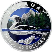 Stříbrná mince Potáplice 1 Oz Geometry in Art 2016 Proof (.9999)