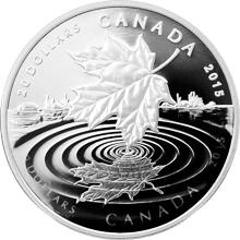 Stříbrná mince Maple Leaf Reflection 1 Oz 2015 Proof (.9999)