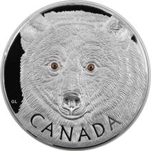 Stříbrná mince 1 Kg Očima kermodského medvěda 2016 Proof (.9999)