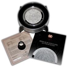 1kg Aztécký kalendář Stříbrná mince 2015 Proof