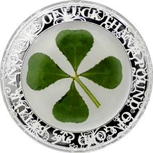 Stříbrná mince Čtyřlístek Unce štěstí 1 Oz 2016 Proof