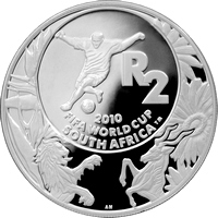 Stříbrná mince 2010 FIFA Mistrovství světa ve fotbale 2008 Proof