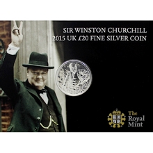 Stříbrná mince Sir Winston Churchill 2015 Standard