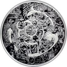Stříbrná mince 2 Oz Kanada očima Tima Barnarda 2014 Proof (.9999)