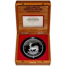 Stříbrná mince 5 Oz The African Springbok 2014 Proof
