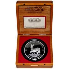 Stříbrná mince 5 Oz The African Springbok 2014 Proof